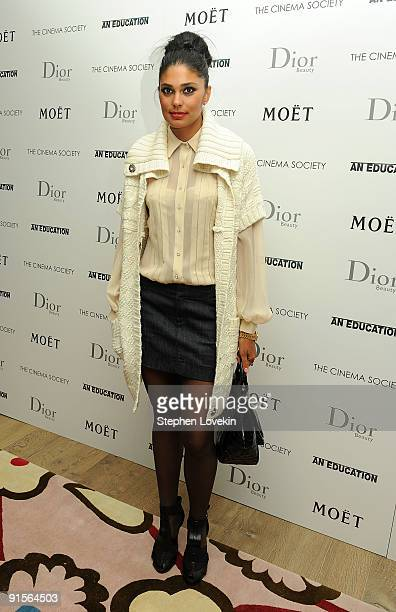 Designer Rachel Roy attends a screening of An Education hosted by The Cinema Society and Dior Beauty at the Crosby Street Hotel on October 7 2009 in...