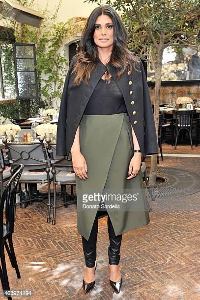 Designer Rachel Roy attends NETAPORTERCOM celebrates Charlotte Tilbury at the AOC on February 20 2015 in Los Angeles California