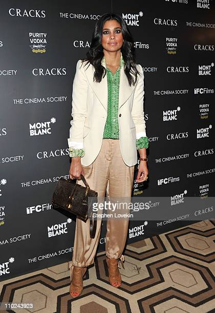 Designer Rachel Roy attends the Cinema Society Montblanc screening of Cracks at the Tribeca Grand Screening Room on March 16 2011 in New York City