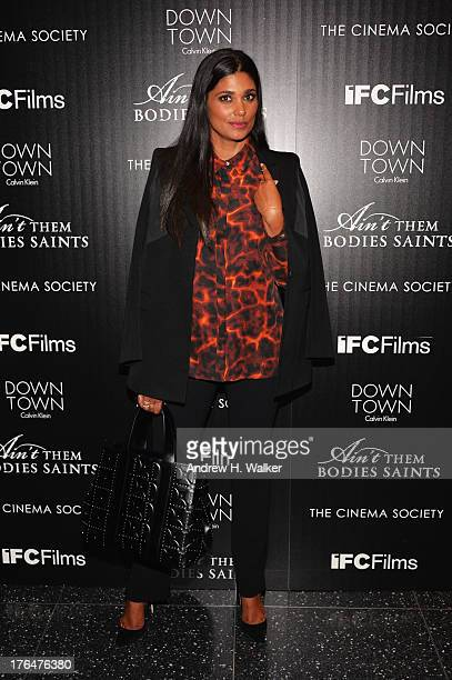 Designer Rachel Roy attends the Downtown Calvin Klein with The Cinema Society screening of IFC Films' Ain't Them Bodies Saints at the Museum of...
