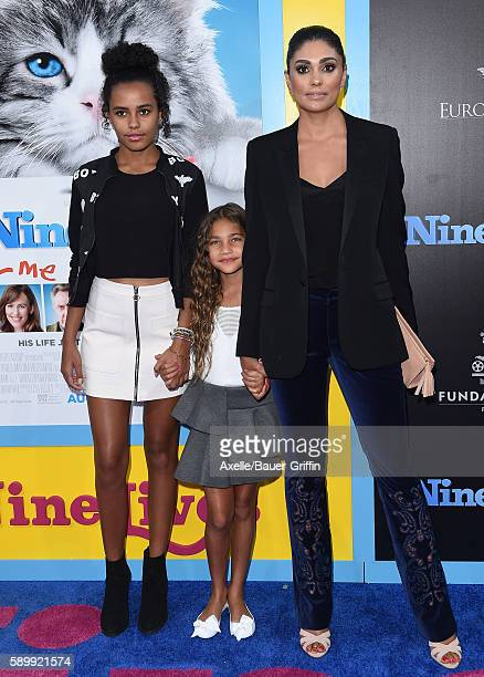 Designer Rachel Roy daughters Ava Dash and Tallulah Ruth Dash arrive at the premiere of EuropaCorp's 'Nine Lives' at TCL Chinese Theatre on August 1...