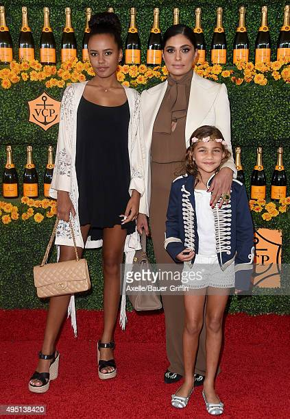 Designer Rachel Roy daughters Tallulah Ruth Dash and Ava Dash arrive at the SixthAnnual Veuve Clicquot Polo Classic Los Angeles at Will Rogers State...