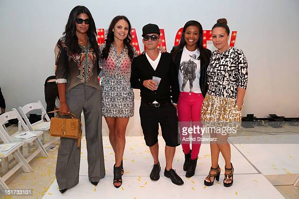 Designer Rachel Roy Deirdre Maloney designer Mark McNairy actress Gabrielle Union and radio personality Angie Martinez attend the Mark McNairy New...
