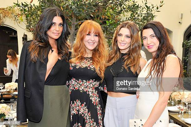 Designer Rachel Roy makeup artist Charlotte Tilbury actress Ashley Greene and actress Shiva Rose attend NETAPORTERCOM celebrates Charlotte Tilbury at...