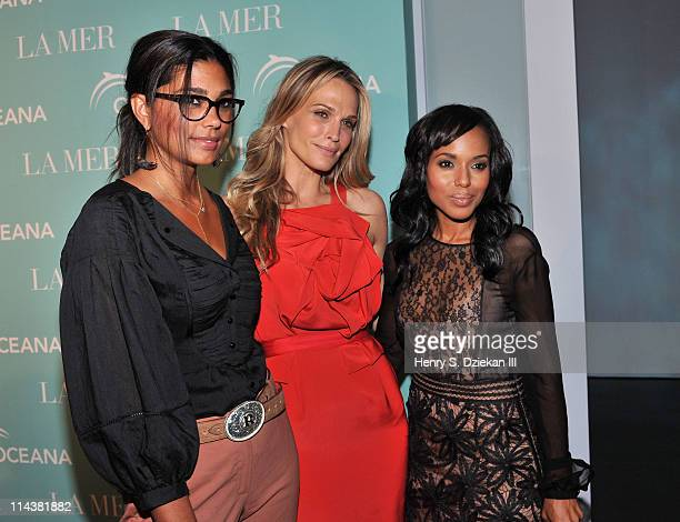 Designer Rachel Roy Molly Sims and actress Kerry Washington attend World Ocean Day 2011 celebrated by La Mer and Oceana at Affirmation Arts on May 18...