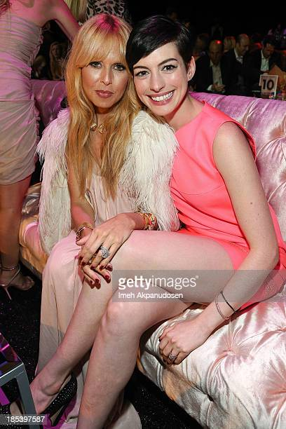 Designer Rachel Zoe and actress Anne Hathaway attend FIJI Water at the 9th Annual Pink Party Benefiting The CedarsSinai Women's Cancer Program at...
