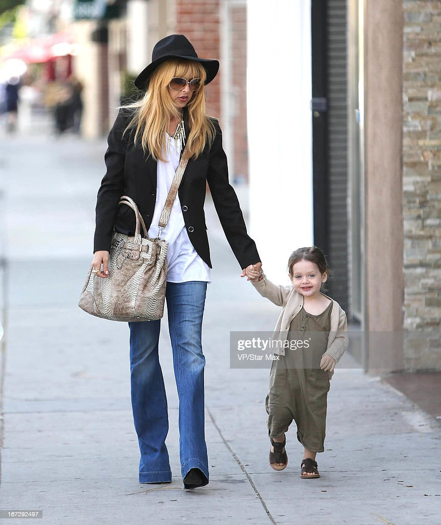 Designer Rachel Zoe and her son Skyler Morrison Berman as seen on April 23, 2013 in Los Angeles, California.