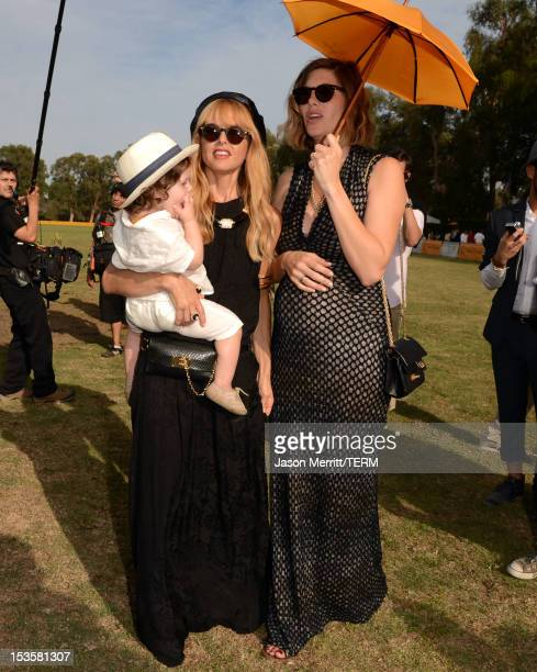Designer Rachel Zoe and host Delfina Blaquier attend the Third Annual Veuve Clicquot Polo Classic at Will Rogers State Historic Park on October 6...