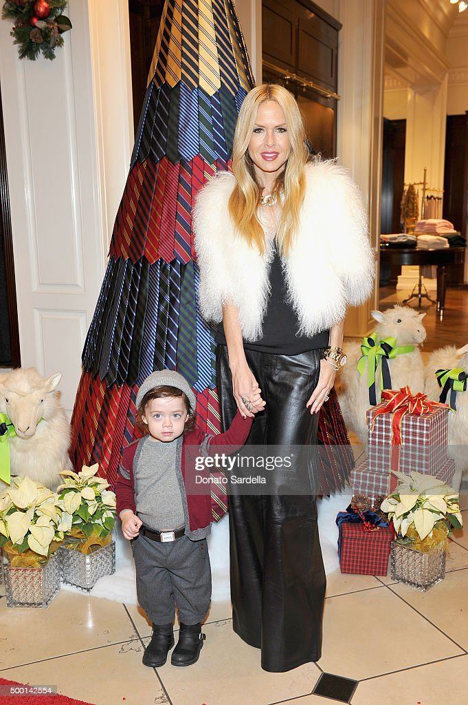 Designer Rachel Zoe (R) and Kaius Jagger Berman attend the Brooks Brothers holiday party with St Jude Children's Research Hospital at Brooks Brothers on Rodeo Drive on December 5, 2015 in Beverly Hills, California.