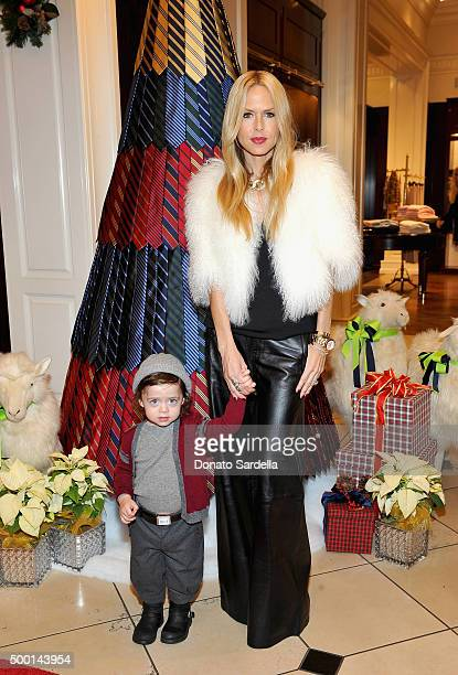 Designer Rachel Zoe and Kaius Jagger Berman attend the Brooks Brothers holiday party with St Jude Children's Research Hospital at Brooks Brothers on...