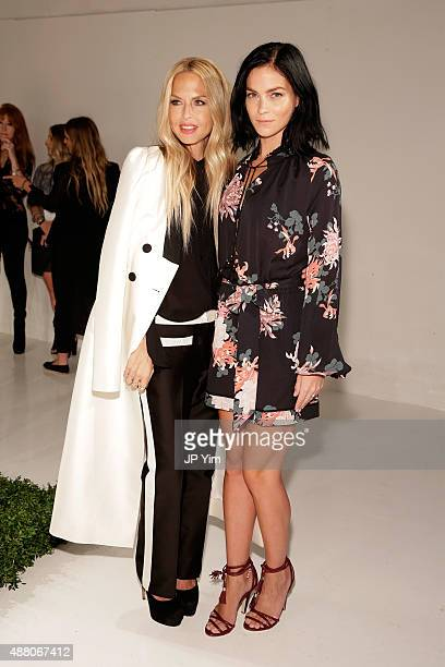 Designer Rachel Zoe and Leigh Lezark attend the Rachel Zoe Spring 2016 presentation during New York Fashion Week The Shows at The Space Skylight at...