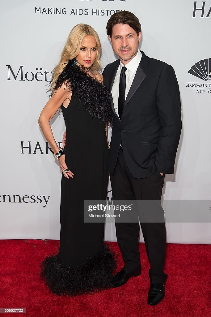 Designer Rachel Zoe (L) and Rodger Berman attend the 2016 amfAR New York Gala at Cipriani Wall Street on February 10, 2016 in New York City.