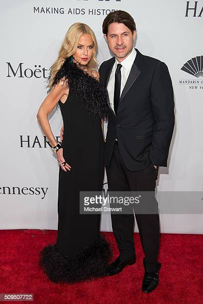 Designer Rachel Zoe and Rodger Berman attend the 2016 amfAR New York Gala at Cipriani Wall Street on February 10 2016 in New York City