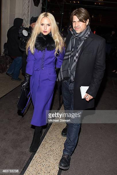 Designer Rachel Zoe and Rodger Berman attend the Oscar De La Renta show during MercedesBenz Fashion Week Fall 2015 on February 17 2015 in New York...