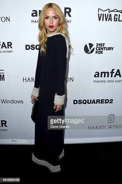 Designer Rachel Zoe attends amfAR's Inspiration Gala Los Angeles at Milk Studios on October 29 2015 in Hollywood California