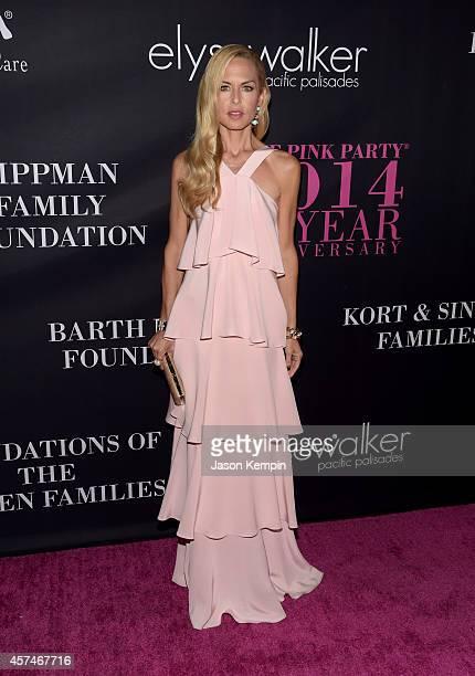 Designer Rachel Zoe attends Elyse Walker presents the 10th anniversary Pink Party hosted by Jennifer Garner and Rachel Zoe at HANGAR8 on October 18...