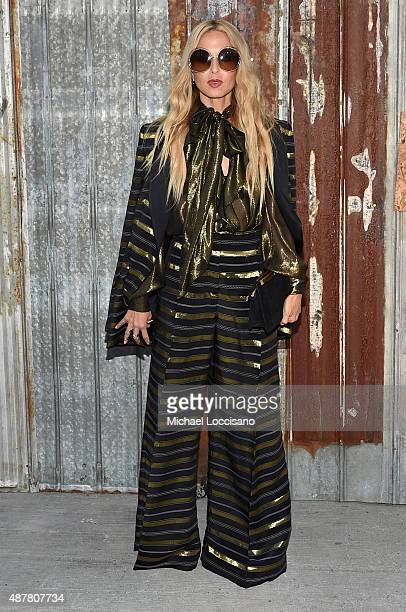 Designer Rachel Zoe attends the Givenchy fashion show during Spring 2016 New York Fashion Week at Pier 26 at Hudson River Park on September 11 2015...