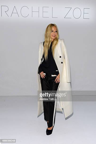 Designer Rachel Zoe attends the Rachel Zoe Presentation Spring 2016 during New York Fashion Week The Shows at The Space Skylight at Clarkson Sq on...