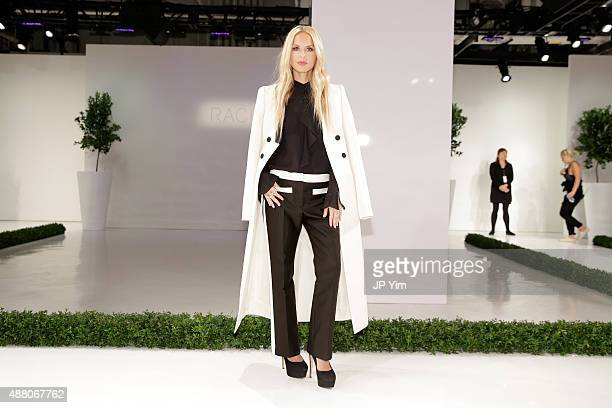 Designer Rachel Zoe attends the Rachel Zoe Spring 2016 presentation during New York Fashion Week The Shows at The Space Skylight at Clarkson Sq on...