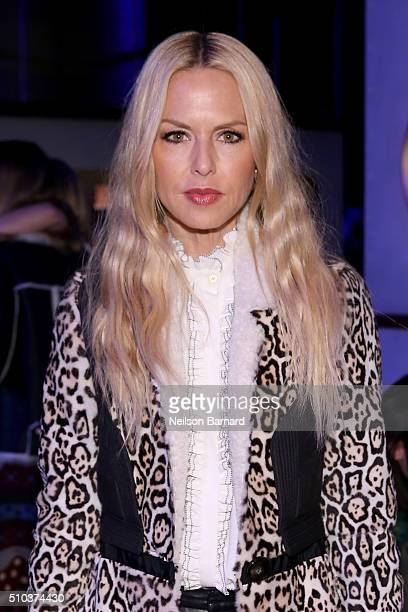Designer Rachel Zoe attends the Tommy Hilfiger Women's Fall 2016 show during New York Fashion Week The Shows at Park Avenue Armory on February 15...