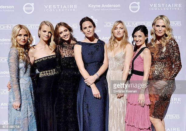 Designer Rachel Zoe copresident of Baby2Baby Kelly Sawyer Patricof founder The Honest Company Jessica Alba honoree Jennifer Garner actress Kate...
