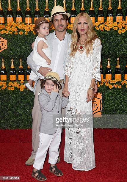 Designer Rachel Zoe husband Rodger Berman sons Skyler Morrison Berman and Kaius Jagger Berman arrive at the SixthAnnual Veuve Clicquot Polo Classic...
