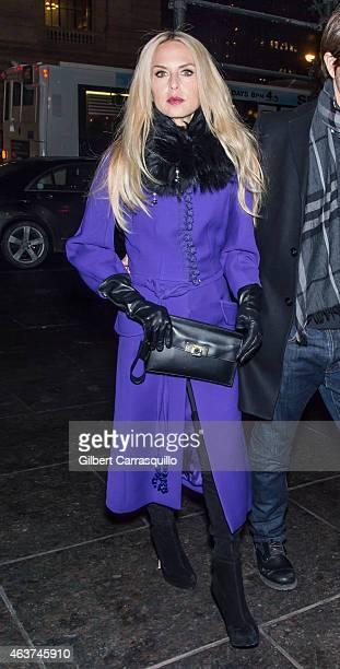 Designer Rachel Zoe is seen arriving at Oscar de la Renta fashion show during MercedesBenz Fashion Week Fall 2015 on February 17 2015 in New York City