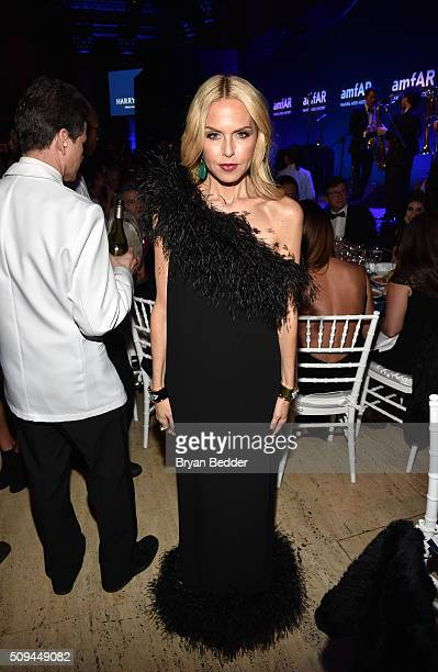 Designer Rachel Zoe is seen during Moet Chandon Toasts to the amfAR Gala at Cipriani Wall Street on February 10 2016 in New York City