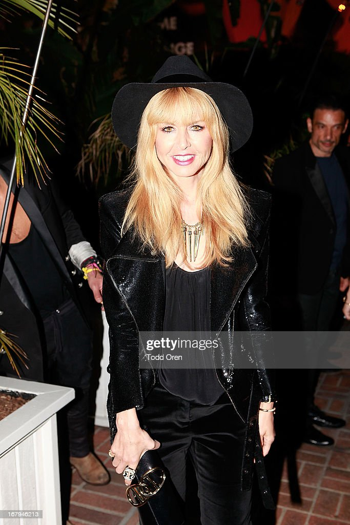 Designer Rachel Zoe poses at the Balmain LA Dinner at Chateau Marmont on May 2, 2013 in Los Angeles, California.