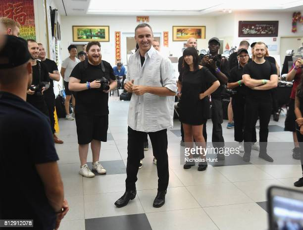 Designer Raf Simons attends the Raf Simons Front Row/Backstage at NYFW Men's July 2017 on July 11 2017 in New York City