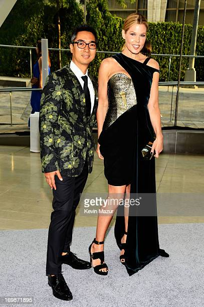 Designer Rafe Totengco and Mary Alice Stephenson attend 2013 CFDA Fashion Awards at Alice Tully Hall on June 3 2013 in New York City