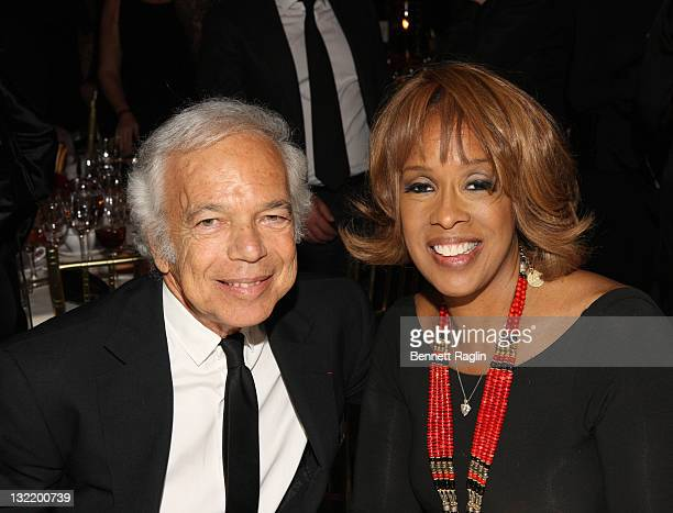 Designer Ralph Lauren and Gayle King attend the 2011 Emery Awards at Cipriani Wall Street on November 10 2011 in New York City