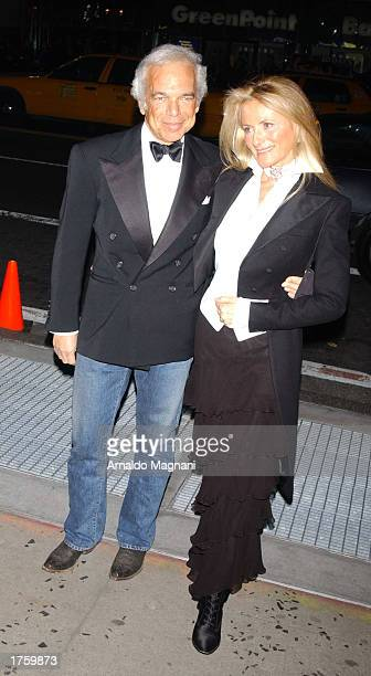 Designer Ralph Lauren and his wife Ricky attend a benefit for the American Foundation for AIDS Research produced in association with Concerned...