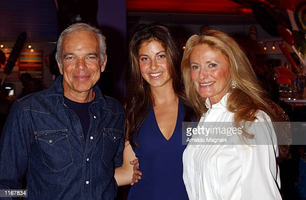 Designer Ralph Lauren and his wife Ricky pose for a photo with their daughter Dylan at the opening of Dylan's Candy Bar her new candythemed store...