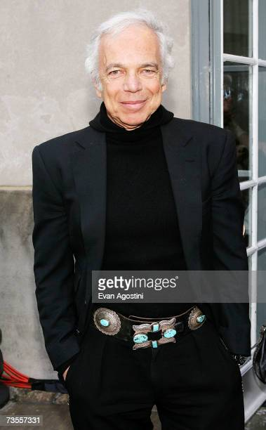 Designer Ralph Lauren attends the announcement of the nominees and honorees for the CFDA fashion awards at Rockefeller Center on March 12 2006 in New...