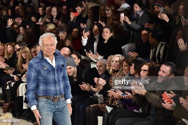 Designer Ralph Lauren attends the Ralph Lauren fashion show during MercedesBenz Fashion Week Fall 2015 at Skylight Clarkson SQ on February 19 2015 in...