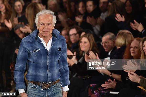 Designer Ralph Lauren attends the Ralph Lauren fashion show during MercedesBenz Fashion Week Fall 2015 at Skylight Clarkson SQ on February 19 2015 in...