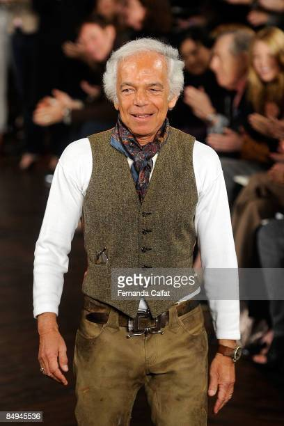 Designer Ralph Lauren on the runway at the Ralph Lauren Fall 2009 fashion show during Mercedes-Benz Fashion Week at Skylight Studio on February 20,...