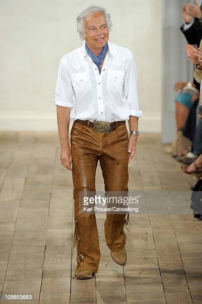 Designer Ralph Lauren on the runway at the Ralph Lauren Spring Summer 2011 fashion show during New York Fashion Week at on September 16, 2010 in New...