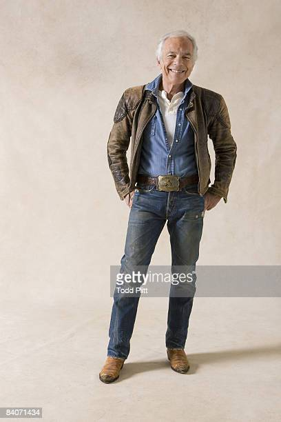 Designer Ralph Lauren poses at a portrait session in New York City