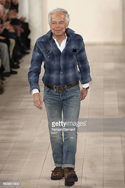 Designer Ralph Lauren walks the runway at the Ralph Lauren fashion show during MercedesBenz Fashion Week Fall 2015 at Skylight Clarkson SQ on...