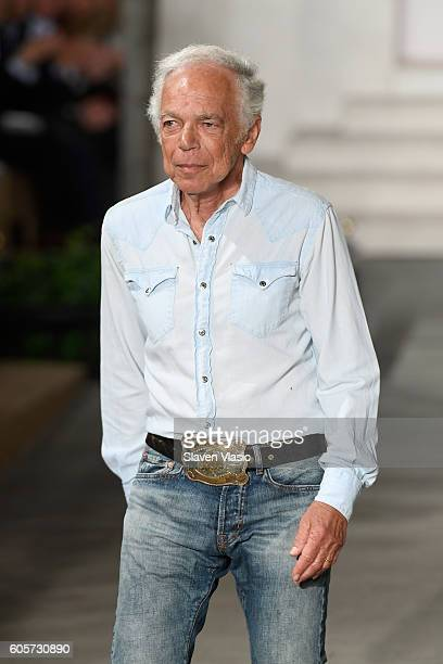 Designer Ralph Lauren walks the runway at the Ralph Lauren fashion show during New York Fashion Week: The Shows at Skylight Clarkson Sq on September...