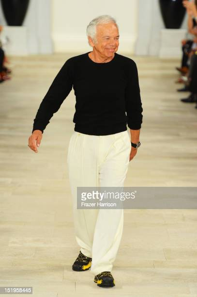 Designer Ralph Lauren walks the runway at the Ralph Lauren Spring 2013 fashion show during Mercedes-Benz Fashion Week on September 13, 2012 in New...