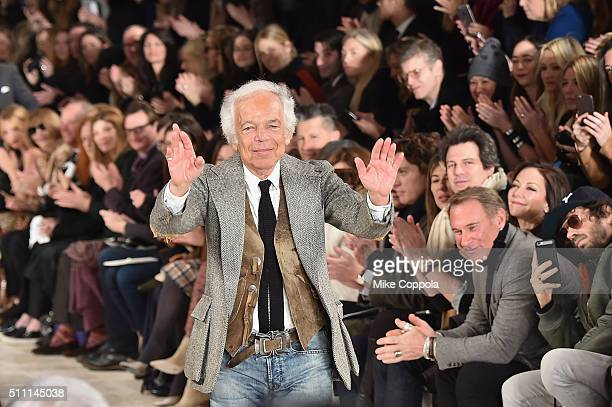 Designer Ralph Lauren walks the runway during the Ralph Lauren Fall 2016 fashion show during New York Fashion Week: The Shows at Skylight Clarkson Sq...