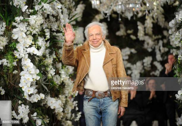 Designer Ralph Lauren walks the runway for the Ralph Lauren show during February 2017 New York Fashion Week at the Ralph Lauren Collection Store on...