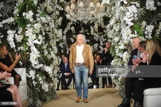 Designer Ralph Lauren walks the runway for the Ralph Lauren show during February 2017 New York Fashion Week at the Ralph Lauren Collection Store on...
