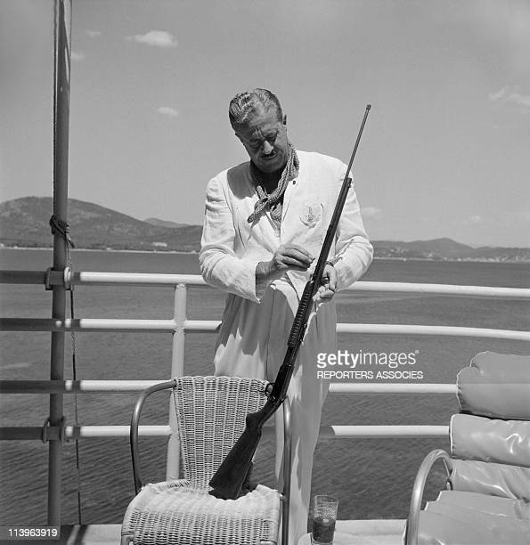 Designer Raymond Loewy on holiday in Southern France with wife Viola In Saint Tropez France In 1960Raymond Loewy in StTropez holiday estate with...