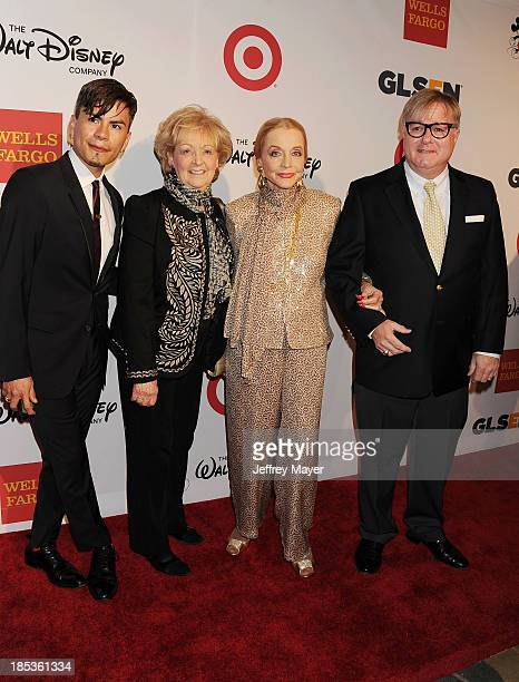 Designer Raymundo Baltazar guest actress Anne Jeffreys and Wells Fargo Foundation Senior Vice President Jonathan Weedman attend the 9th Annual GLSEN...