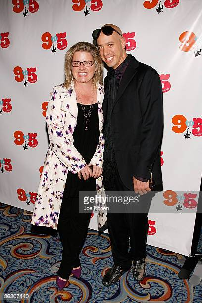 Designer Rebecca Cole and stylist Robert Verdi attend the opening of 9 to 5 The Musical on Broadway at the Marriott Marquis Theatre on April 30 2009...