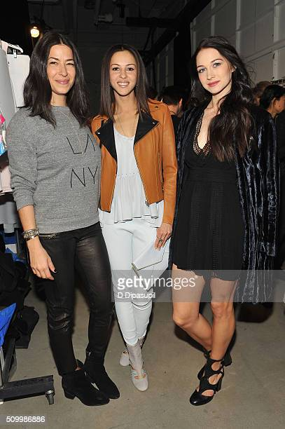 Designer Rebecca Minkoff Actresses Annet Mahendru and Hannah James attend the Rebecca Minkoff Fall 2016 fashion show during New York Fashion Week The...